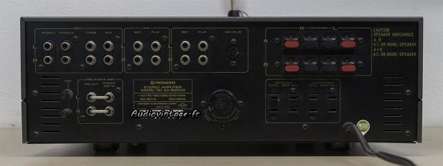 Pioneer SA-8500 II : connectique.