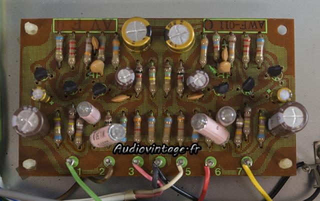 Pioneer SX-737  :  circuit phono revu.