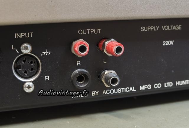 Quad 405-2 : connectique HP cassée.