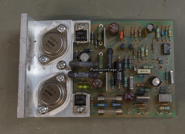 Quad 405-2 : circuit amplificateur à réviser.
