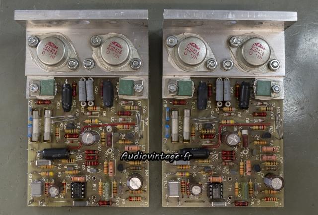 Quad 405 : circuits d'amplification révisés.