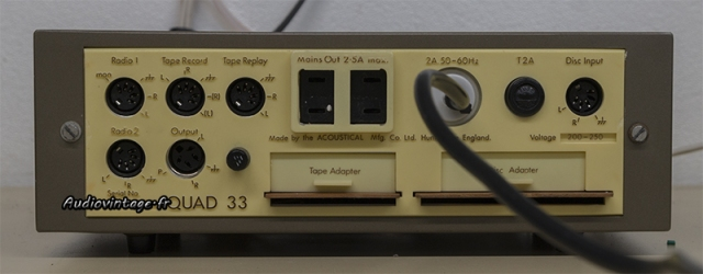 Quad 33 : connectique.