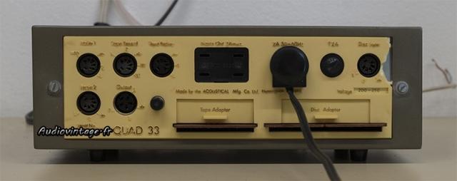 Quad 33 : connectique