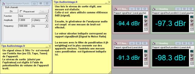 Quad 33 : rapport-signal-bruit-a-1v-en-sortie-entree-radio-tone-defeat