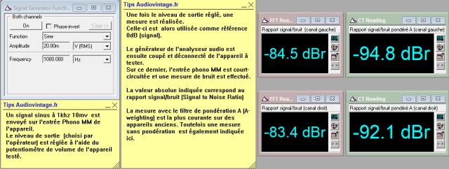 Quad 33 : rapport-signal-bruit-a-1.6v-en-sortie-entree-phonotone-defeat