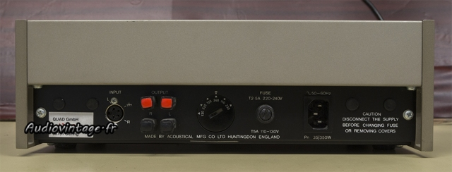Quad 405-2 : connectique.