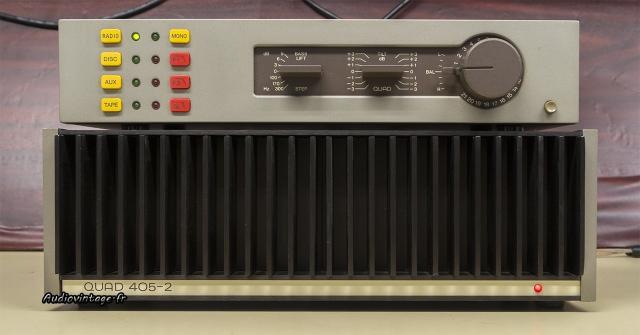 Quad 405-2 :en compagnie du préampli Quad 34