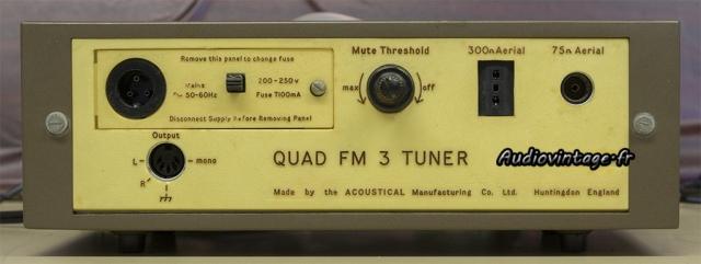 Quad FM 3 :  connectique.
