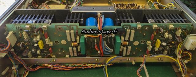 Revox B750 MKII : circuits d'amplification en place.