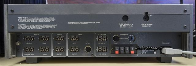 Revox B750 MKII : connectique.