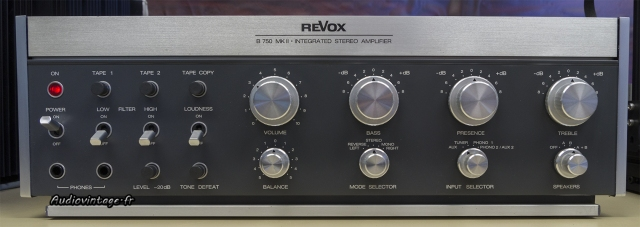 Revox B750 MKII : après un bon nettoyage.