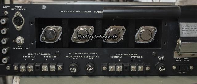 Sansui 2000 : transistors neufs en place.