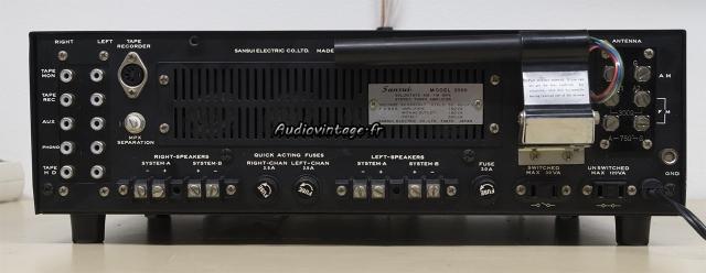 Sansui 2000 : connectique.