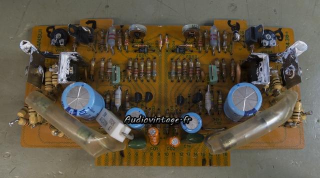 Sansui 8080 : circuit driver bricolé.