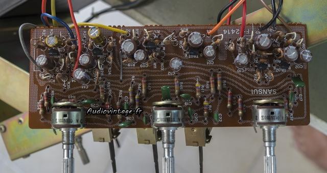Sansui AU-5500 : circuit de tonalité révisé.