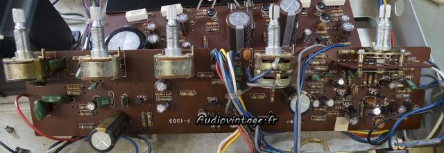 Sansui AU-101 : circuit secondaire révisé.