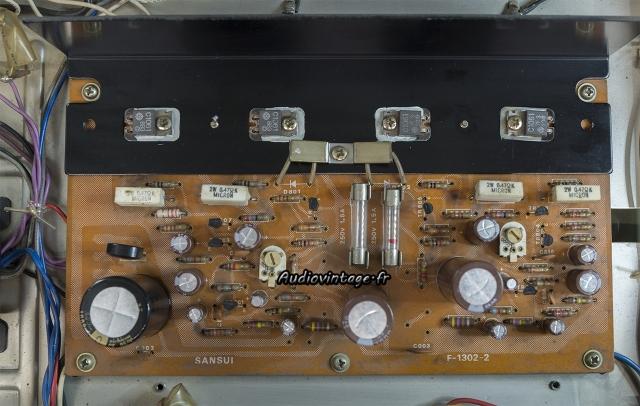 Sansui AU-101 : circuit principal révisé.