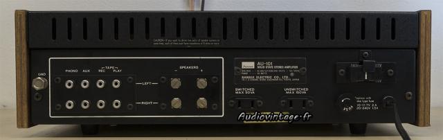 Sansui AU-101 : connectique.