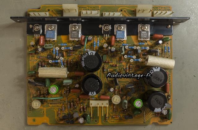 Sansui AU-11000A : circuit driver révisé.