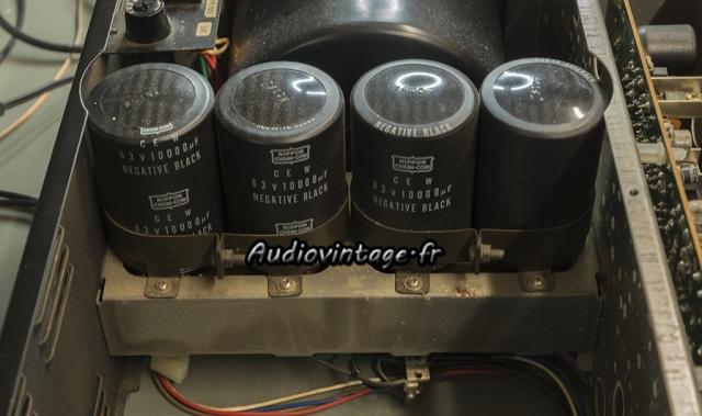 Sansui AU-11000A : capas de filtrage d'alim à remplacer.