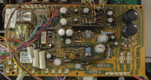 Sansui AU-11000A : circuit alimentation/protection à réviser.