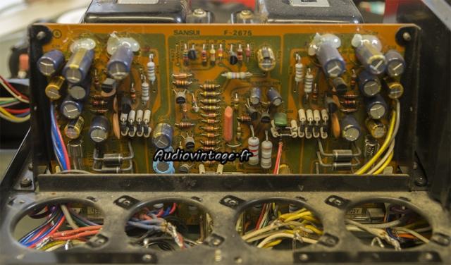 Sansui AU-517 : circuit alimentation et protection.