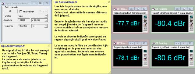 Sansui AU-517 : rapport-signal-bruit-a-2x1w-sous-8-ohms-entree-aux-tone-defeat