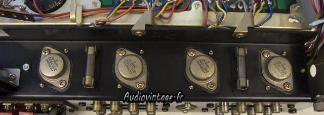 Sansui AU-555A : graisse thermique à changer.