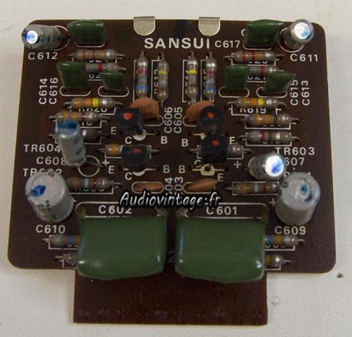 Sansui AU-555A : phono à réviser.