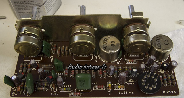 sansui AU-555A-section tone revisée.