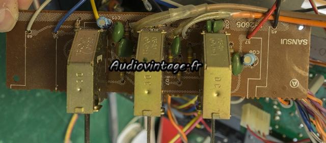 Sansui AU-5900 : circuit filtre à revoir.