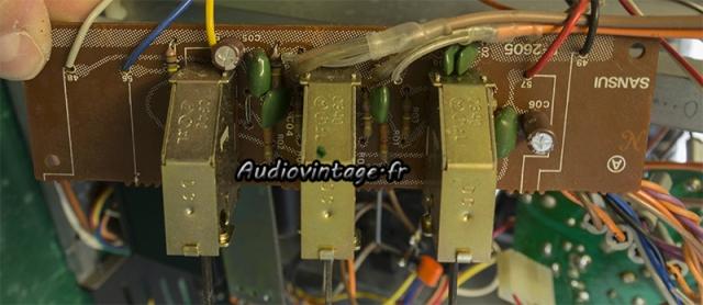 Sansui AU-5900 : circuit filtre révisé.