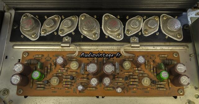 Sansui AU-7500 : circuit amplification révisé.