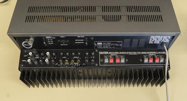Sansui AU-7900 : connectique.