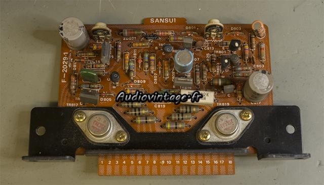Sansui AU-9500 : circuit driver à revoir.