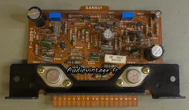 Sansui AU-9500 : circuit driver revu.