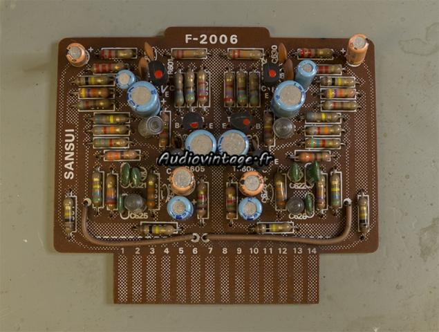 Sansui AU-9500 : circuit phono à revoir.