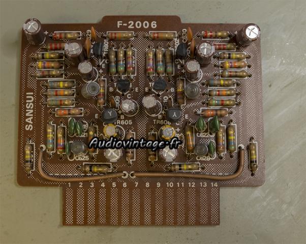 Sansui AU-9500 : circuit phono révisé.