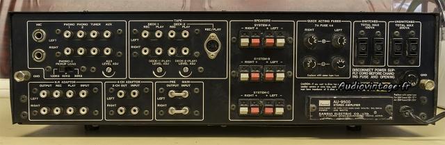 Sansui AU-9500 : connectique.