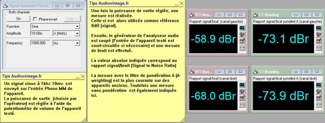 Sansui AU-9500 : rapport-signal-bruit-a-2x1w-sous-8-ohms-entree-phono-tone-defeat