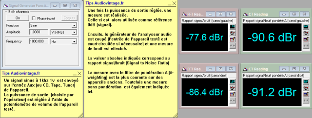 Sansui AU-9500 : rapport-signal-bruit-a-2x80w-sous-8-ohms-entree-aux-tone-defeat