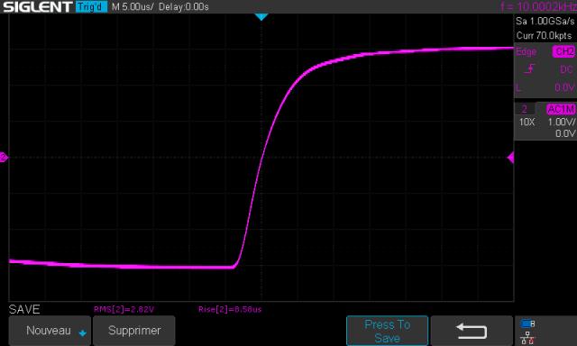 Sansui AU-9500 : temps-de-montee-a-10khz