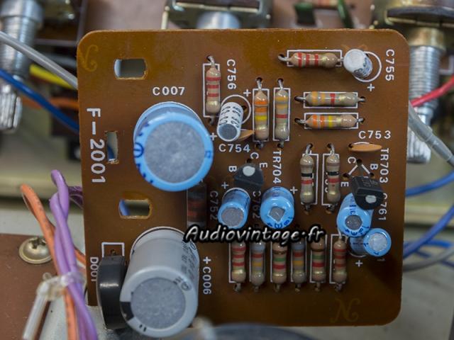 Sansui AU-505 : circuit filtres à réviser.