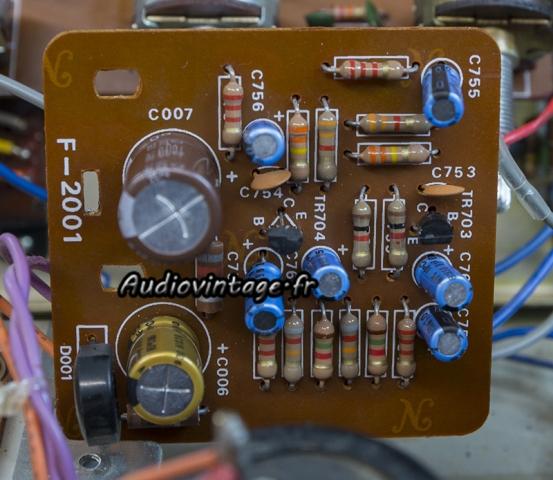 Sansui AU-505 : circuit filtres révisé.