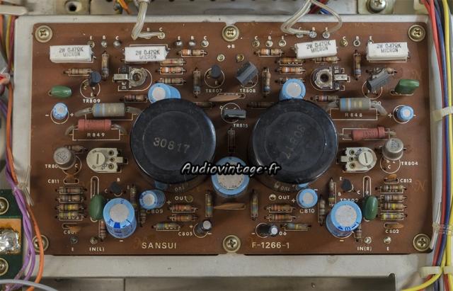 Sansui AU-505 : circuit amplification à réviser.