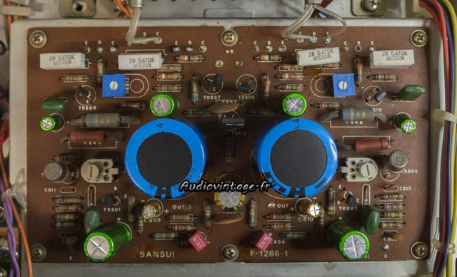 Sansui AU-505 : circuit amplification révisé.