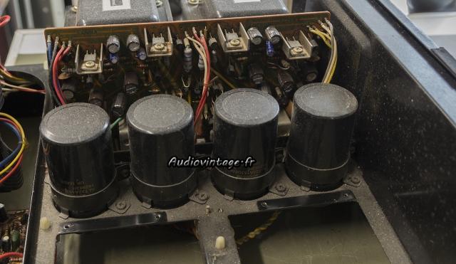 Sansui AU-717 : circuit alimentation et protection à revoir.