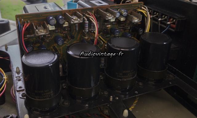 Sansui AU-717 : circuit alimentation et protection revu.