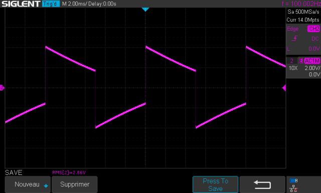 Sansui AU-999 : signal-carré-à-100hz