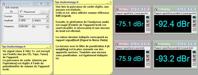 Scott 255 S : rapport-signal-bruit-a-2x30w-sous-8-ohms-entree-aux-tone-defeat
